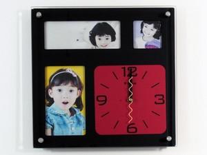 Часы на стену с фоторамками