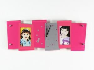 Часы детские на стену розовые с фото