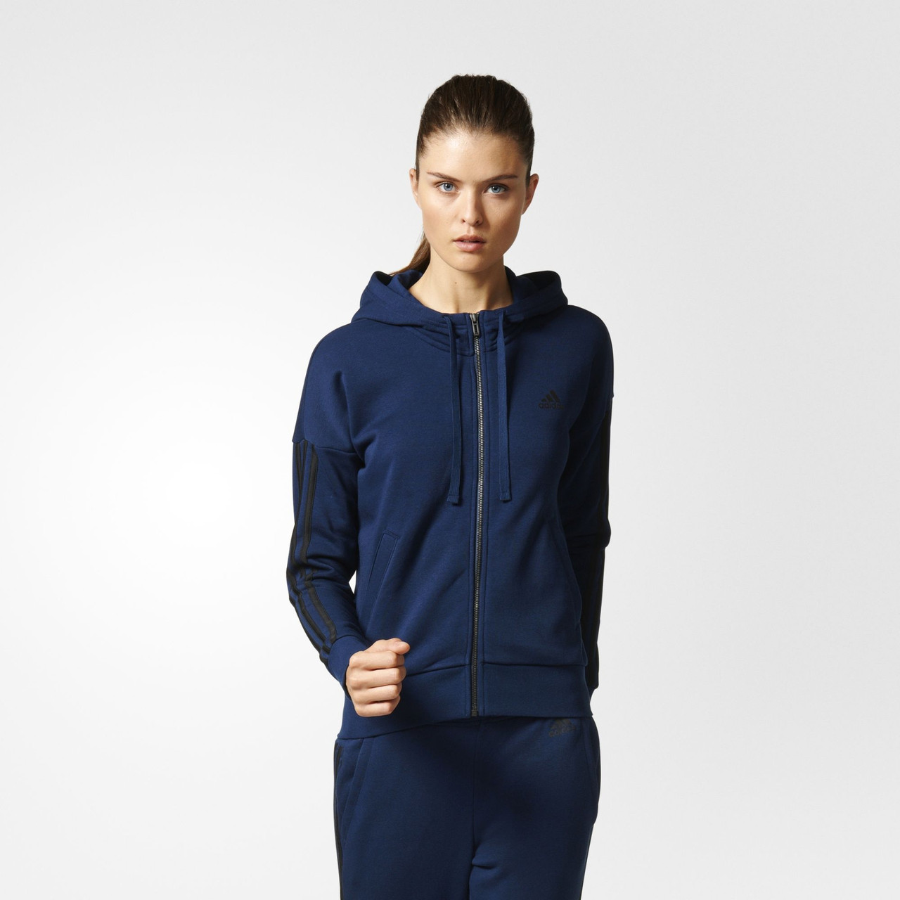 10000c43 Женская толстовка Adidas Performance Essentials 3-Stripes (Артикул: S97060)