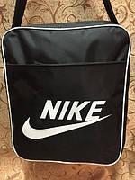 Сумка-планшет Nike, Найк черная с белым. Качественная сумка. Унисекс. Практичный дизайн. Купить. Код: КДН1236