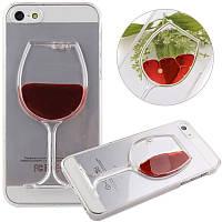 Пластиковый 3D чехол Бокал вина iPhone 5 5s 5se