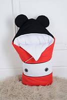"""Демисезонный конверт-одеяло """"Микки Маус"""" для новорожденного на выписку из роддома (Размер 80*85 см) ТМ MagBaby"""