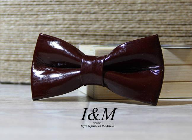 Кожаная галстук-бабочка I&M (010806), фото 2