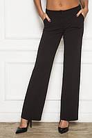 Прямые женские брюки со стрелками черные