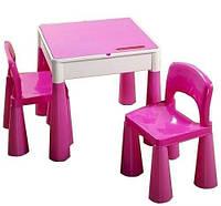 Комплект детской мебели Tega Baby Mamut (стол + 2 стула) Pink