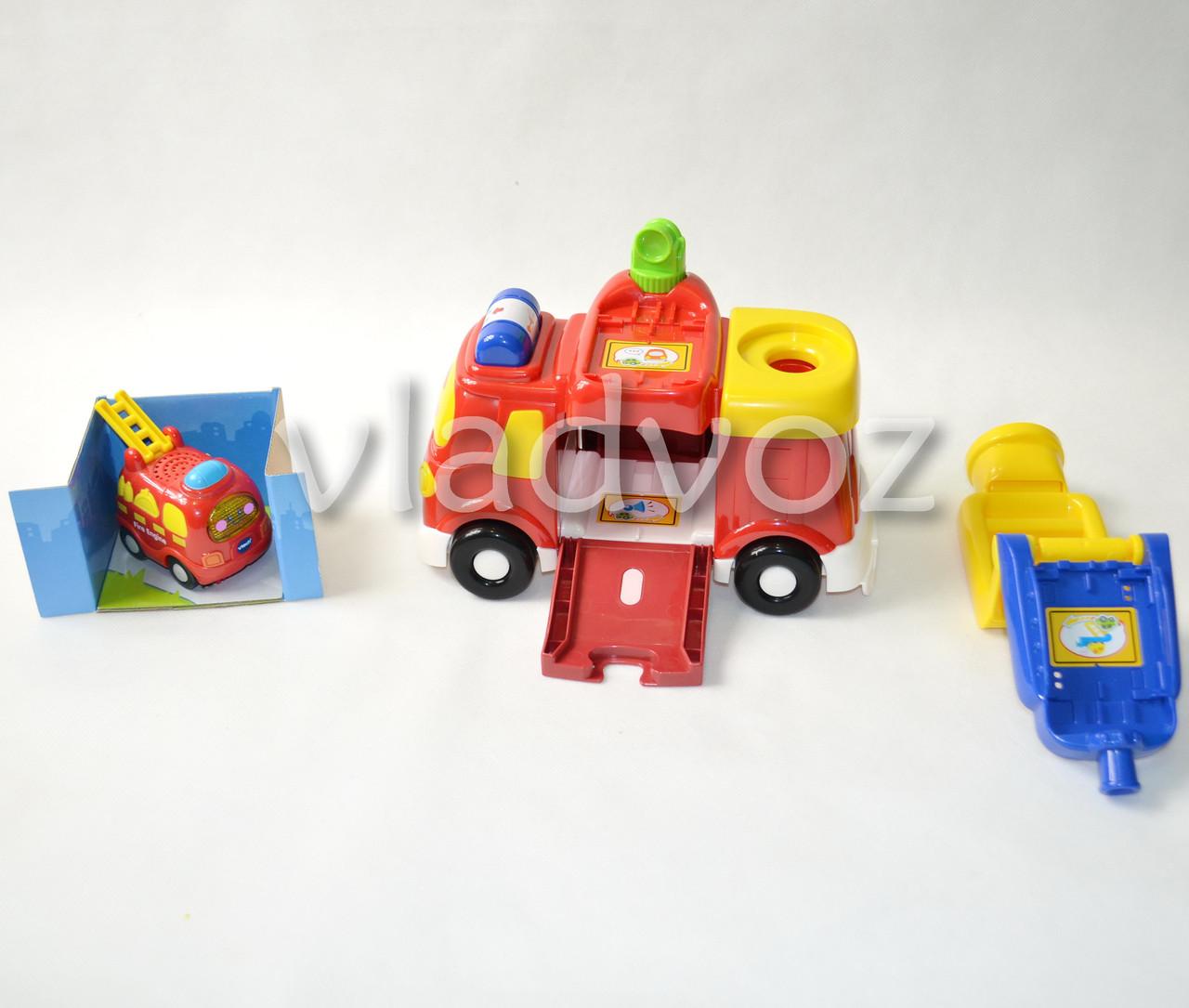 Детская музыкальная машинка спецтехника Vtech пожарная вид с переди