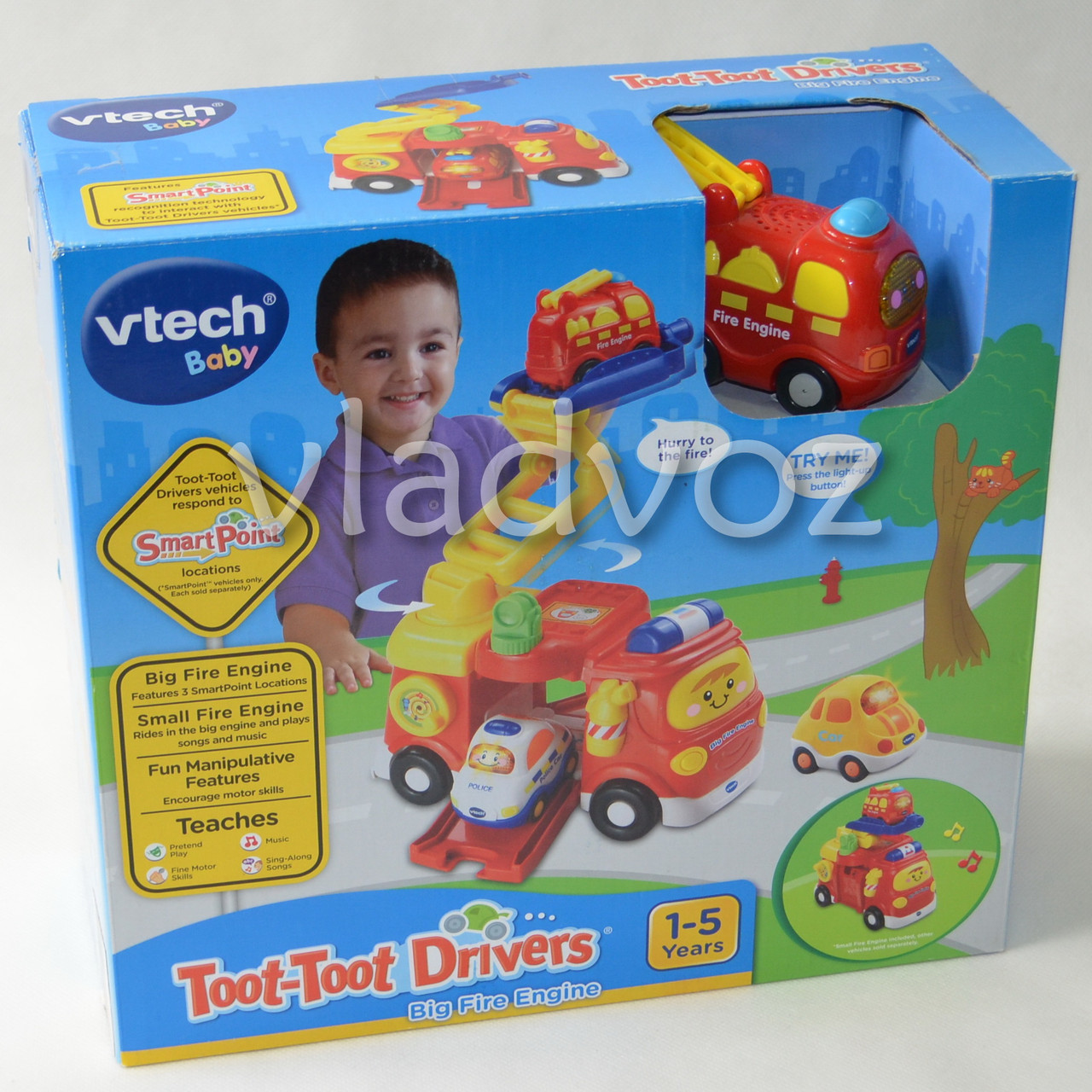 Детская музыкальная машинка спецтехника Vtech пожарная