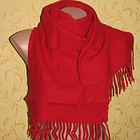 Красный шарф очень теплый 135х30см