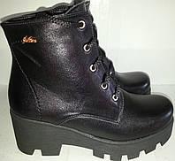 Ботинки женские зимние № 0016 натур кожа и замшевые KARO