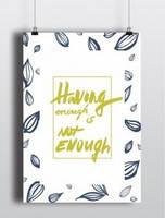 Постер Having enough
