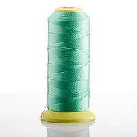 Нитка Мятно зеленый  d-0.6мм капроновая для рукоделия 500 м