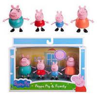 Набор фигурок Свинка Пеппа, Пеппа и семья, Peppa Pig 3 inch Figure 4 Pack - Family.