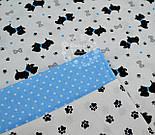 """Ткань бязь """"Собачки с голубыми ошейниками"""" № 550а, фото 2"""