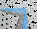 """Ткань бязь """"Собачки с голубыми ошейниками"""" № 550а, фото 6"""