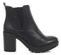 Чёрные женские ботинки,качественные