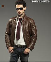 Мужская зимняя кожаная куртка. Модель 1055