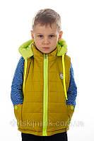 """Детский жилет-безрукавка для мальчика """"Чикико"""" (Горчица)"""