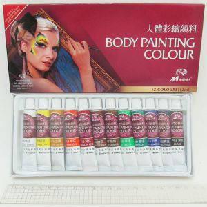 Краски для росписи по телу Боди Арт, 12 цветов, фото 2