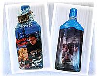 Новогоднее оформление бутылки оригинальный подарок на новый год