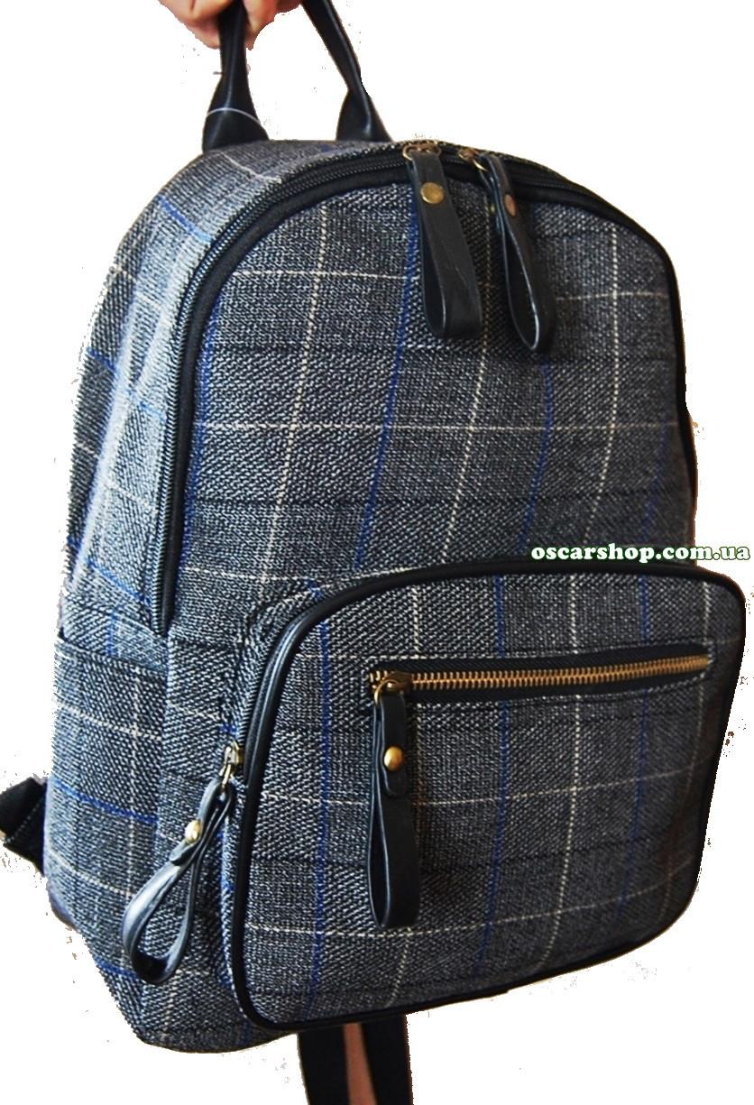 25463ca769ce Сумка портфель в клетку шотландка. Женский рюкзак стильный супер качество!  СР301, фото 1