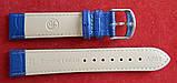 Ремешок кожаный BROS (ИТАЛИЯ) темно-синий рельеф 20 мм, фото 3