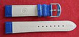 Ремешок кожаный BROS (ИТАЛИЯ) темно-синий рельеф 20 мм, фото 5