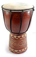 Африканский барабан джембе дерево с кожей