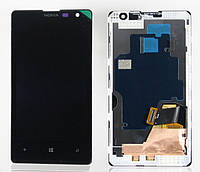 Дисплей (экран) для Nokia Lumia 1020 + с сенсором (тачскрином) и рамкой Black