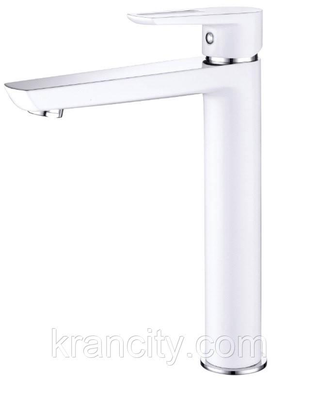 Смеситель для раковины высокий однозахватный  Imprese BRECLAV 05245WH , хром/белый