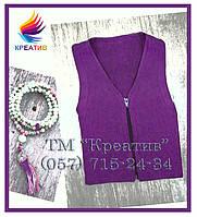 Фиолетовый жилет из флиса с V-образным вырезом (под заказ от 30-50 шт.)