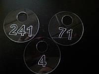 Номерки для гардероба круглые