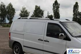 """Рейлинги Mercedes Vito 638 1996-2003  Тур. тип - Premium, Пластиковые ножки, цвет """"Хром"""""""