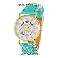 Необычные женские наручные часы Geneva Diamond Turquoise