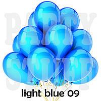 Воздушные шарики Gemar G90 пастель Светло-голубой 10' (26 см) 100 шт