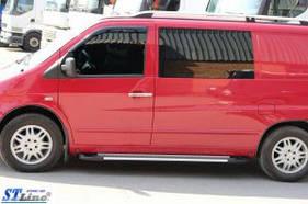"""Рейлинги Mercedes Vito 638 1996-2003  Crown (тип skyport), сплошный алюминий, цвет """"Серый мат"""""""