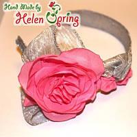 Новый серебряный обруч для волос Три розы
