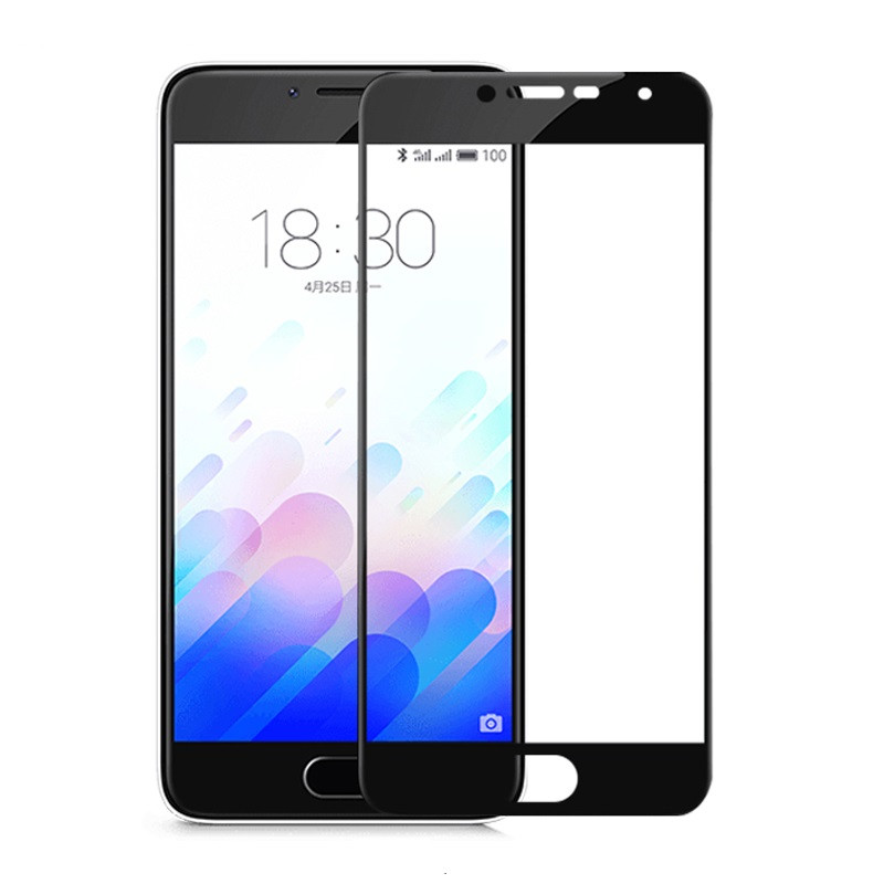 Защитное стекло Meizu M3s / M3 / M3 mini full cover black