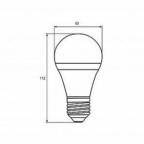 LED Лампа TURBO NEW dimmable А60 10W E27 4000К, фото 2