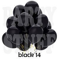 Воздушные шарики Gemar G90 пастель черный 10' (26 см) 100 шт
