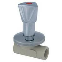 Вентиль PP-R проходной под штукатурку LUX d20 (Чехия), FV-Plast
