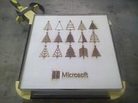 Коробка деревянная 300х300х90