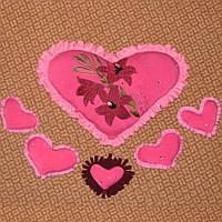 Сердечки-мини мягкие 10-15 см