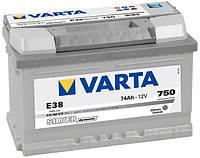 Аккумулятор автомобильный VARTA SILVER DYNAMIC 74AH 750A P+E38
