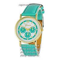 Необычные женские наручные часы Geneva quartz 103 Turquoise