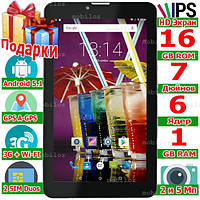 3 в 1 Планшет Телефон Навигатор LENOVO Tab 7 3G IPS 6 ядер ОЗУ 1 Gb ROM 16 Gb Андроид 5 1 GPS 3000 mAh Подарки