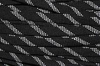 Шнур плоский 15мм акрил (50м) черный+белый, фото 1