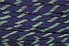Шнур плоский 15мм акрил (50м) синий+салат