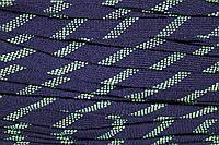 Шнур плоский 15мм акрил (50м) синий+салат , фото 1