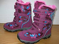 Зимние ботинки на липучках для девочки