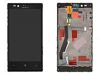 Дисплей (экран) для Nokia Lumia 720 + с сенсором (тачскрином) и рамкой Black